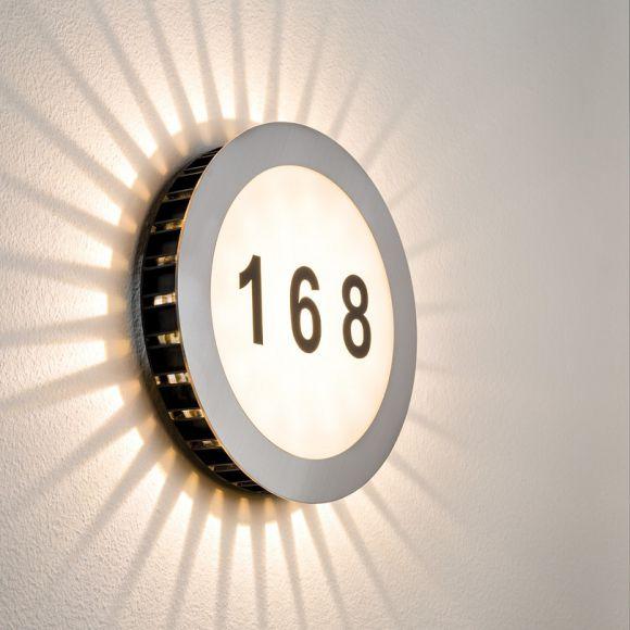 led hausnummern leuchte edelstahl acryl wohnlicht. Black Bedroom Furniture Sets. Home Design Ideas