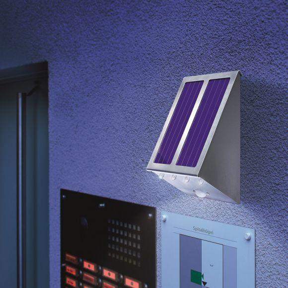 Wandstrahler Mit Led : LEDSolar Wandstrahler mit 120° Bewegungsmelder  WOHNLICHT