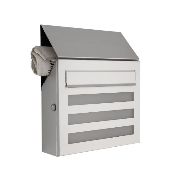 briefkasten aus edelstahl mit acrylglasscheibe. Black Bedroom Furniture Sets. Home Design Ideas
