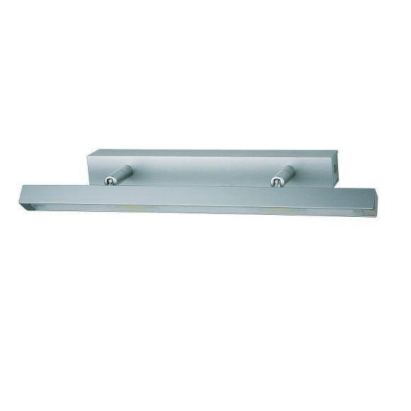 geradliniger wandfluter mit led aluminium matt geb rstet inklusive 3 x 3 5w led warmwei. Black Bedroom Furniture Sets. Home Design Ideas