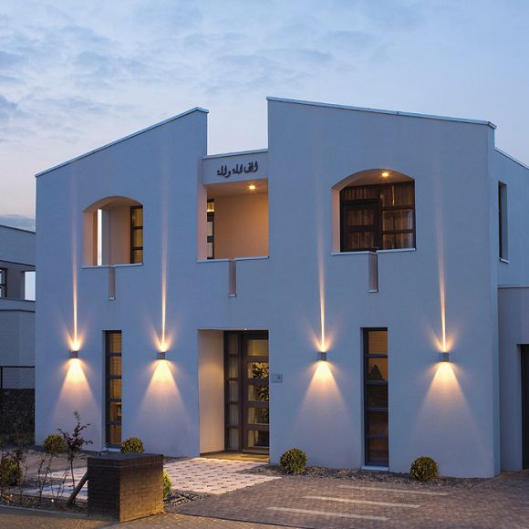 wandleuchte out beam f r den au enbereich wohnlicht. Black Bedroom Furniture Sets. Home Design Ideas
