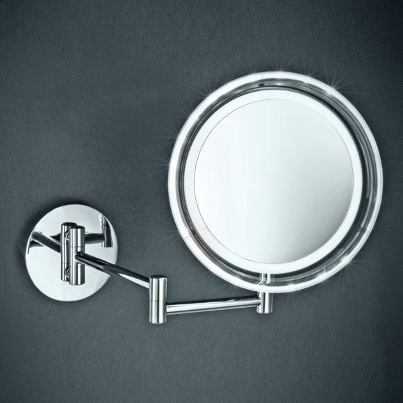 led wand und kosmetikspiegel mit 5 fach vergr erung wohnlicht. Black Bedroom Furniture Sets. Home Design Ideas