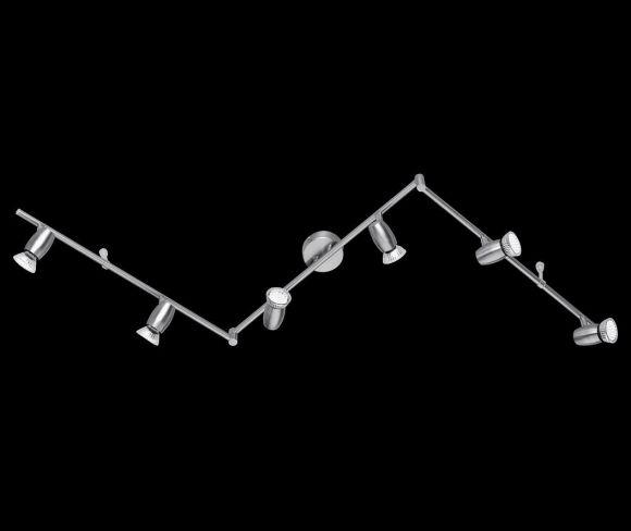 Schlichte sechsflammige LED-Schiene - modernes Design - inklusive LED-Leuchmittel