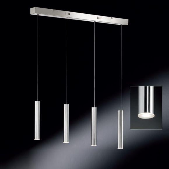 led pendelleuchte in chrom gl nzend inklusive 4x4watt warmwei 2700k je 300lm wohnlicht. Black Bedroom Furniture Sets. Home Design Ideas