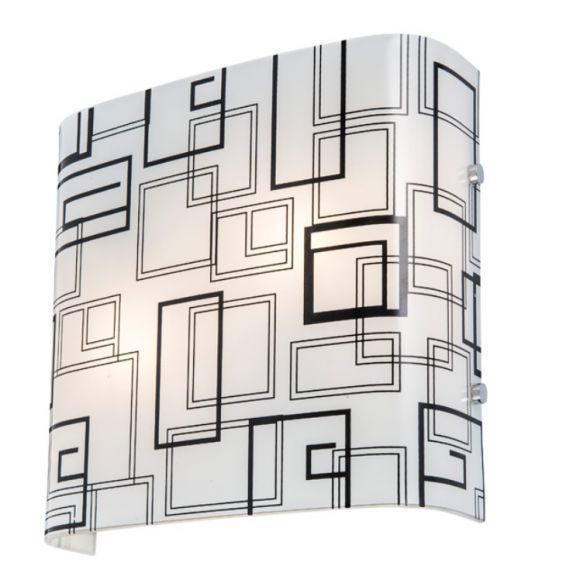 leuchte f r die wand oder decke satiniertes glas in drei verschiedenen schwarz wei dekoren. Black Bedroom Furniture Sets. Home Design Ideas