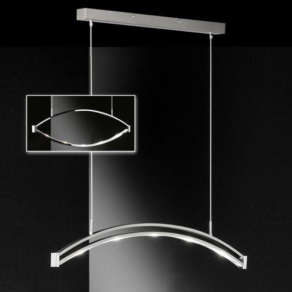 led pendelleuchte l nge 83cm in nickel matt oder chrom gl nzend wohnlicht. Black Bedroom Furniture Sets. Home Design Ideas