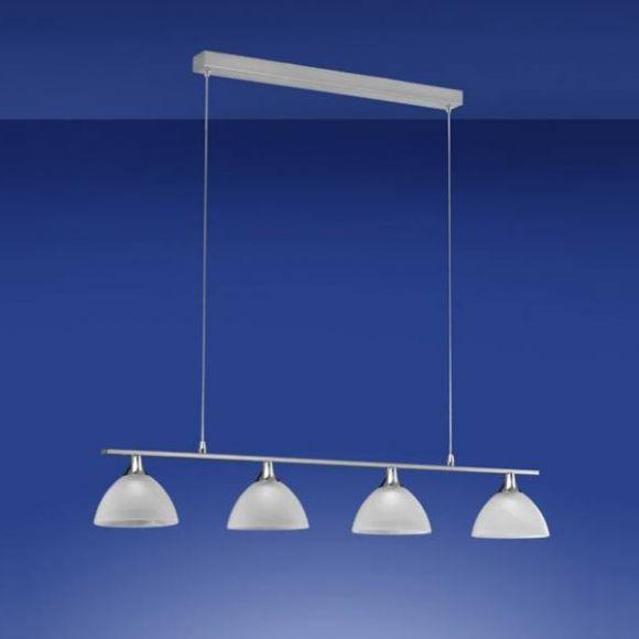 led pendelleuchte in nickel oder messing mit wei em alabasterglas wohnlicht. Black Bedroom Furniture Sets. Home Design Ideas