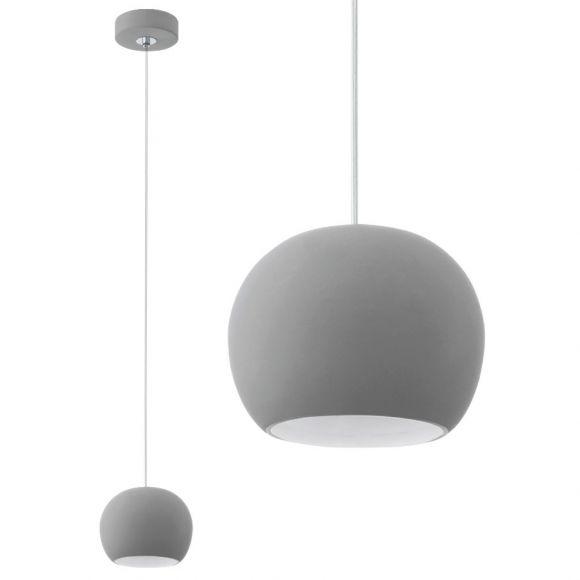 moderne kugel pendelleuchte aus keramik inklusive leuchtmittel wohnlicht. Black Bedroom Furniture Sets. Home Design Ideas