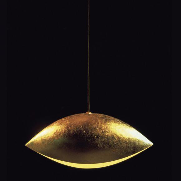 designer pendelleuchte malagola blattgold wohnlicht. Black Bedroom Furniture Sets. Home Design Ideas