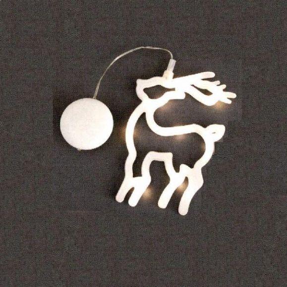 weihnachtsbeleuchtung f r innen fensterbild silhouette mit batteriebetrieb motiv rentier. Black Bedroom Furniture Sets. Home Design Ideas