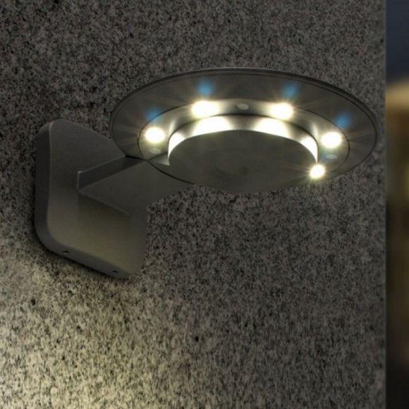 led au enleuchte aus aluminiumguss in anthrazit 6x3watt wohnlicht. Black Bedroom Furniture Sets. Home Design Ideas