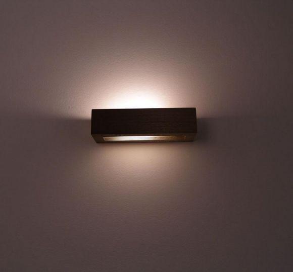 wandleuchte 30 aus zebraholz kiefer buche meranti oder wenge wohnlicht. Black Bedroom Furniture Sets. Home Design Ideas
