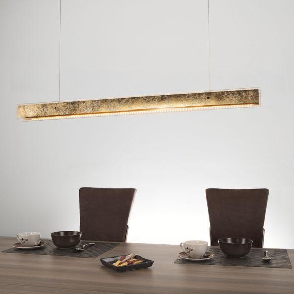 Esszimmer Pendelleuchte Electra Aus Metall: Stilvolle LED-Pendelleuchte Aus Metall Mit Klarem Glasrand