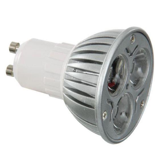 LED-Leuchtmittel GU10/3x1W warmweiß 3000K - entspricht ca. 20W Allgebrauchslicht