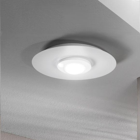 moderne led deckenleuchte in wei rund 25 cm wohnlicht. Black Bedroom Furniture Sets. Home Design Ideas