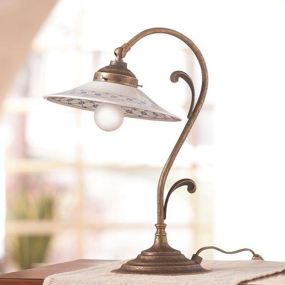 Tischleuchte im landhausstil keramik lampenschirme for Keramik tischleuchte