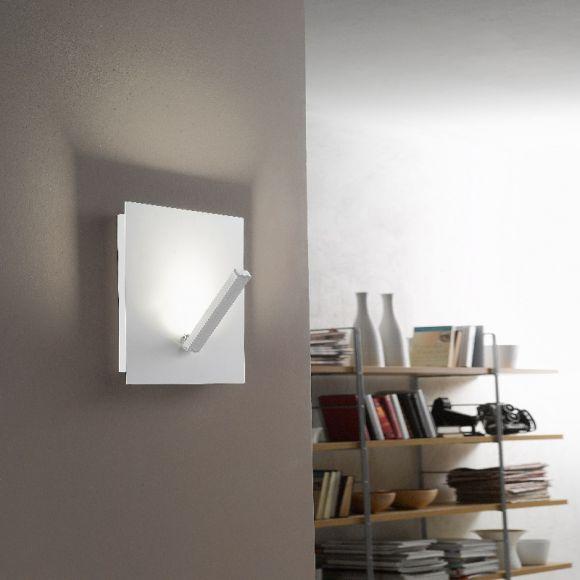 moderne led wand oder deckenleuchte aus wei em metall inklusive 12 watt led leuchtmittel. Black Bedroom Furniture Sets. Home Design Ideas