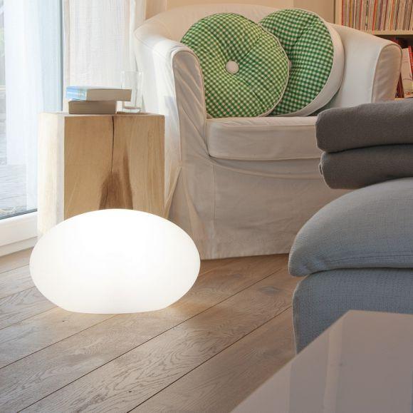 ovale dekoleuchte outdoor indoor geeignet esl variante mit e27 9watt. Black Bedroom Furniture Sets. Home Design Ideas