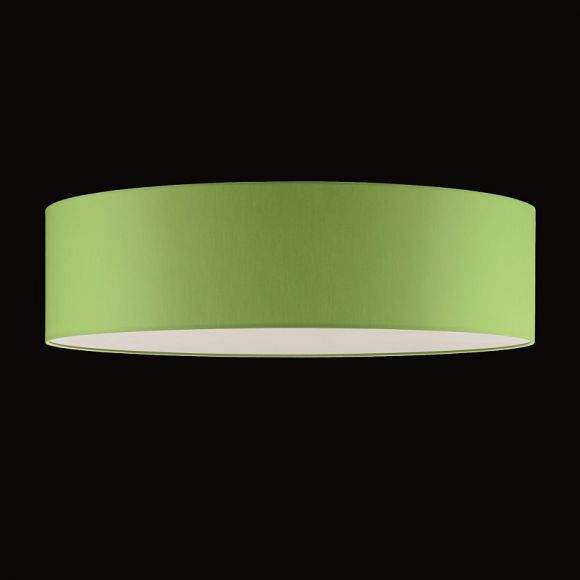 runder lampenschirm chintz stoff apfelgr n 50 cm. Black Bedroom Furniture Sets. Home Design Ideas