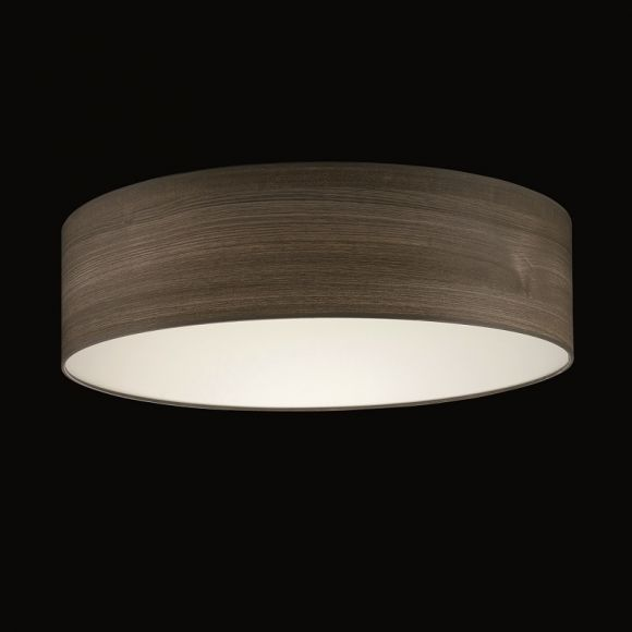 runder lampenschirm pvc teak durchmesser 50 cm wohnlicht. Black Bedroom Furniture Sets. Home Design Ideas