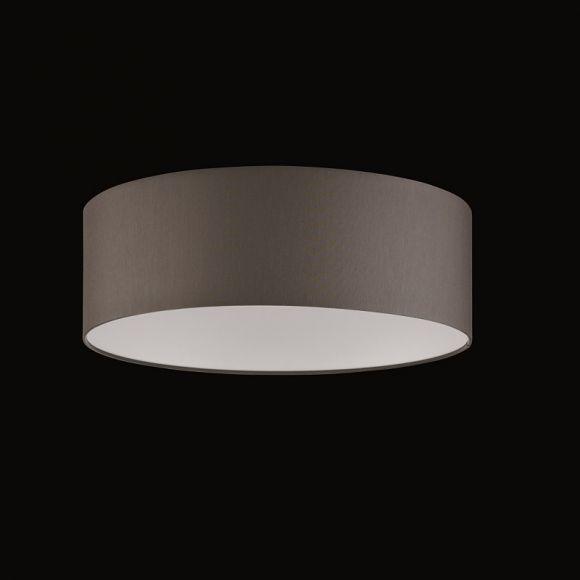 runder lampenschirm chintz stoff grau braun 60 cm wohnlicht. Black Bedroom Furniture Sets. Home Design Ideas