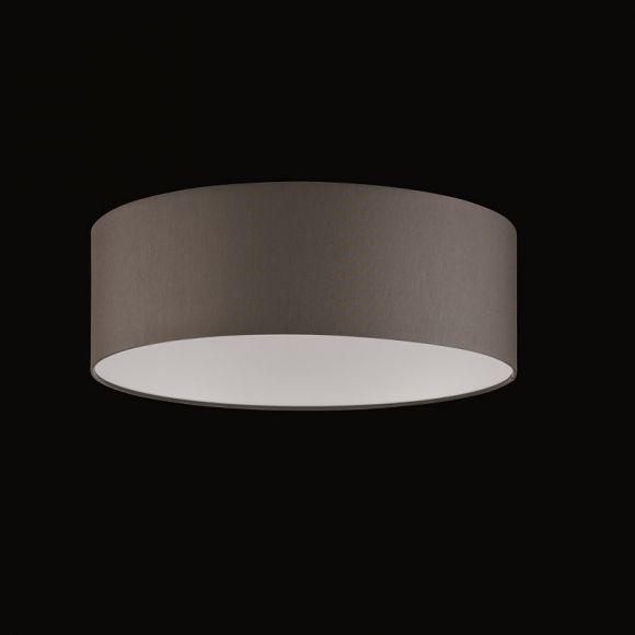 runder lampenschirm chintz stoff grau braun. Black Bedroom Furniture Sets. Home Design Ideas