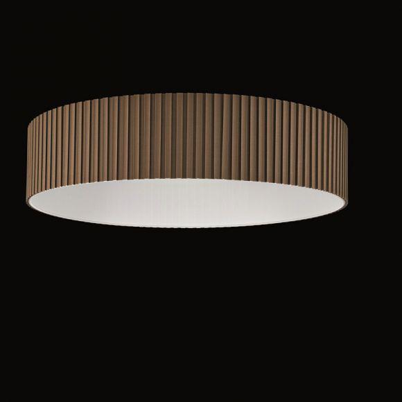 runder lampenschirm stoff plissee braun beige durchmesser 75 cm wohnlicht. Black Bedroom Furniture Sets. Home Design Ideas