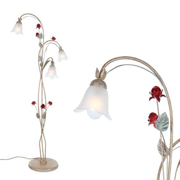 florentiner stehleuchte 3 flammig mehrfarbig wohnlicht. Black Bedroom Furniture Sets. Home Design Ideas