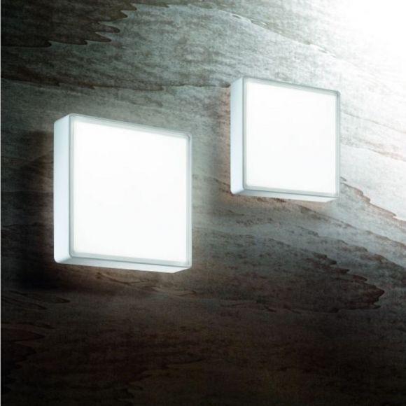 led wand oder deckenleuchte quadratisch in 4 versionen wohnlicht. Black Bedroom Furniture Sets. Home Design Ideas