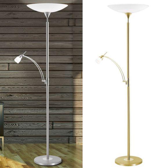 lichtstarker led standfluter mit tastdimmer wohnlicht. Black Bedroom Furniture Sets. Home Design Ideas