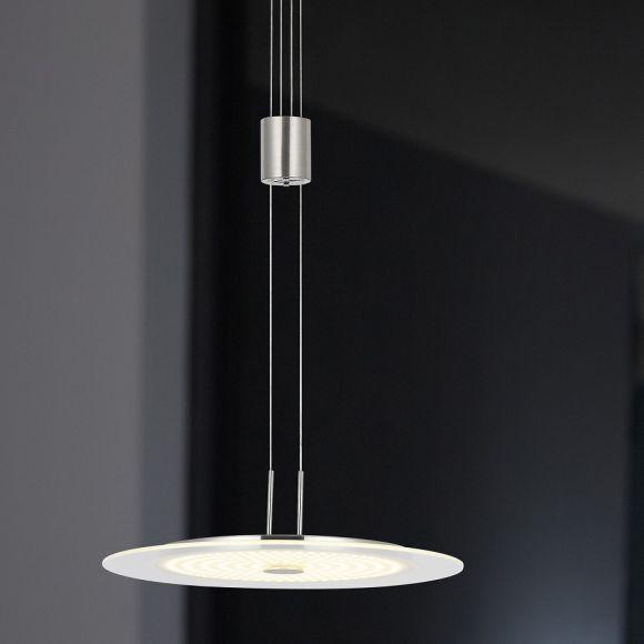 pendelleuchte touchdimmer h henverstellbar glas pendelleuchte modern. Black Bedroom Furniture Sets. Home Design Ideas