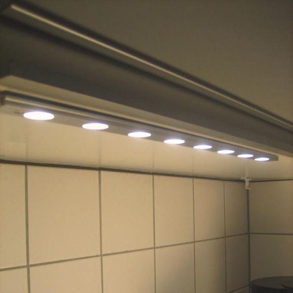 LED-Schiene STRIP-LED eingefasst in edlem Aluminium (satin-finish), Grundset