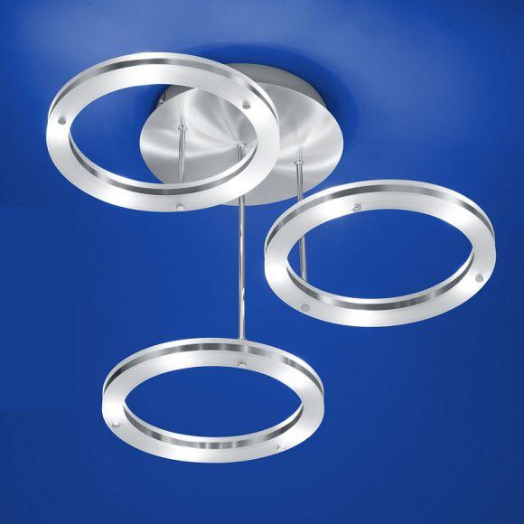 LEDDeckenleuchte mit drei beleuchteten Ringen  WOHNLICHT -> Led Deckenleuchte Xenia