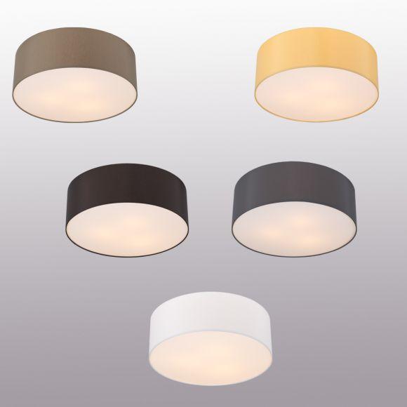 Runde deckenleuchte mit attraktivem lampenschirm aus for Led deckenleuchte verschiedene farben