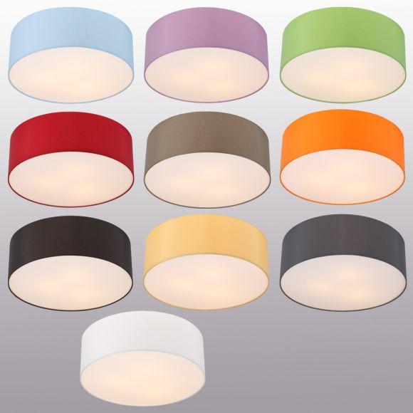 runde deckenleuchte mit attraktivem lampenschirm aus chintz stoff 10 verschiedene farben 52. Black Bedroom Furniture Sets. Home Design Ideas