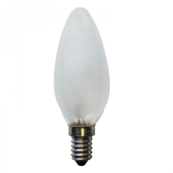 C35 Kerzen Glühlampe matt E14, 15W, 25W, 40W oder 60W