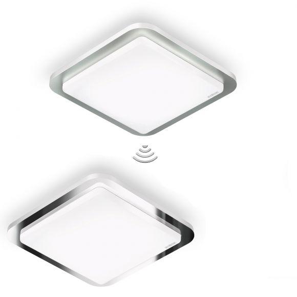 led sensor deckenleuchte ip20 11w mit designblende aus metall wohnlicht. Black Bedroom Furniture Sets. Home Design Ideas