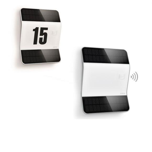 led solar hausnummernleuchte 1 2w 100lm mit 170 sensor 4000k wohnlicht. Black Bedroom Furniture Sets. Home Design Ideas