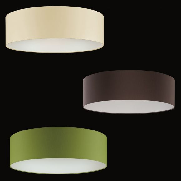 deckenleuchte mit stoffschirm 60 cm in 3 farben wohnlicht. Black Bedroom Furniture Sets. Home Design Ideas