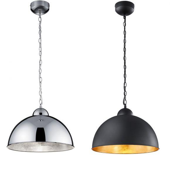 dimmbare led pendelleuchte romino rund 40 cm 2 farben wohnlicht. Black Bedroom Furniture Sets. Home Design Ideas