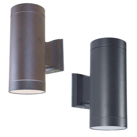 klassische au enwandleuchte up and down aluminium 2 farben rost oder anthrazit ip 54. Black Bedroom Furniture Sets. Home Design Ideas