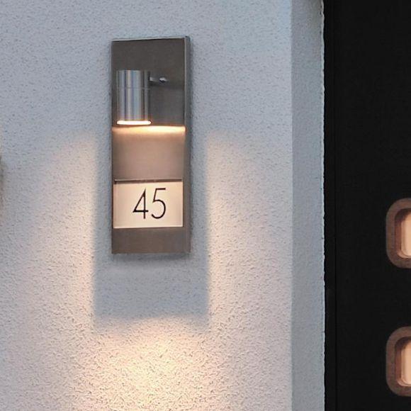 Hausnummern zum Bekleben, Aluminium grau oder schwarz oder Edelstahl