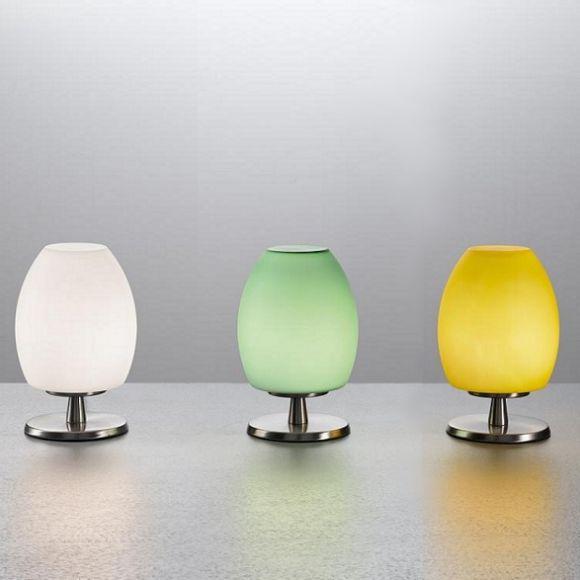 tischleuchte mit touchdimmer verschiedene farben wohnlicht. Black Bedroom Furniture Sets. Home Design Ideas