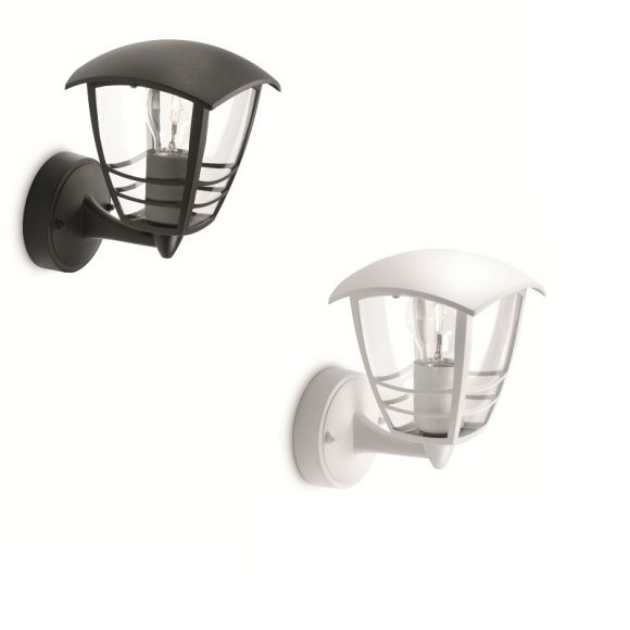 au enwandleuchte stehend in wei oder schwarz mit klarem acrylglas wohnlicht. Black Bedroom Furniture Sets. Home Design Ideas
