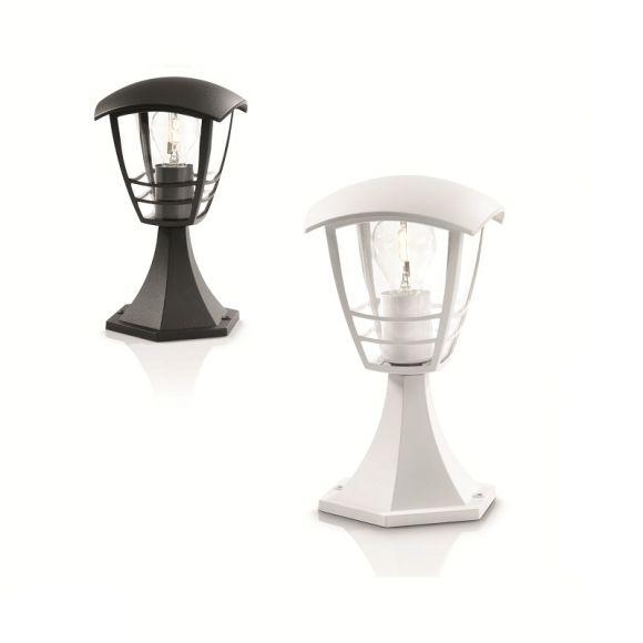sockelleuchte in wei oder schwarz mit klarem acrylglas wohnlicht. Black Bedroom Furniture Sets. Home Design Ideas
