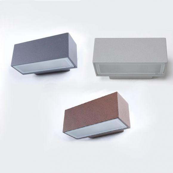 moderne wandleuchte aus aluminium fassadenbeleuchtung w hlbar in 3 ausf hrungen wohnlicht. Black Bedroom Furniture Sets. Home Design Ideas