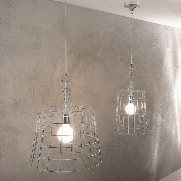 ungew hnliche pendelleuchte in chrom 2 gr en wohnlicht. Black Bedroom Furniture Sets. Home Design Ideas