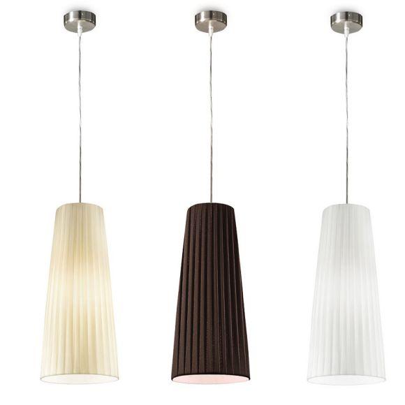 pendelleuchte plissee stoff lampenschirm 20 cm 3 farben wohnlicht. Black Bedroom Furniture Sets. Home Design Ideas