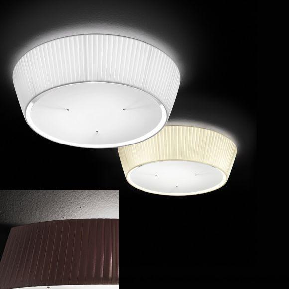 moderne deckenleuchte plissee stoff lampenschirm durchmesser 60 cm 3 farben wohnlicht. Black Bedroom Furniture Sets. Home Design Ideas