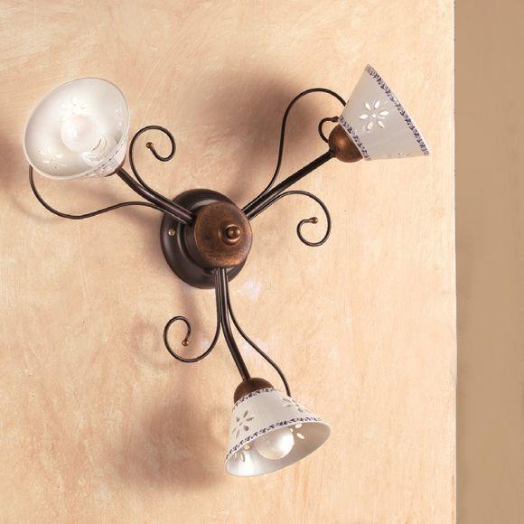 mediterrane wand oder deckenleuchte keramikschirme. Black Bedroom Furniture Sets. Home Design Ideas
